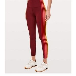 """Lululemon Take A Hint 7/8 Tight 25"""" Size 6 Deep Rouge"""